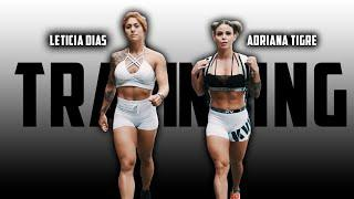 FITNESS FEMALE MOTIVATION- Double Training Adriana Tigre & Leticia Dias - 锻炼动机